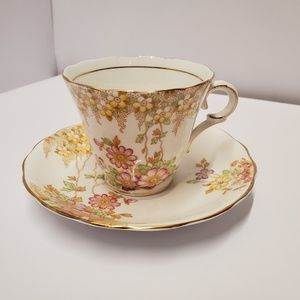Very nice floral coldough china Tea cup and saucer